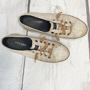 SPERRY Top Siders Tan Pier View Core Sneakers